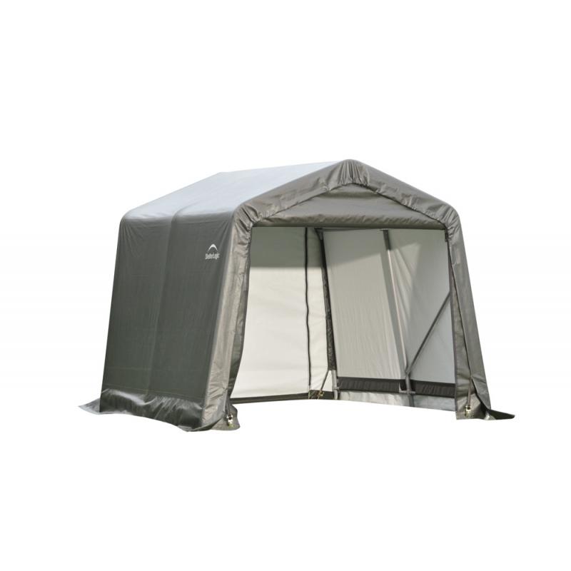 ShelterLogic 8x12x8 Peak Style Shelter, Grey (71813)