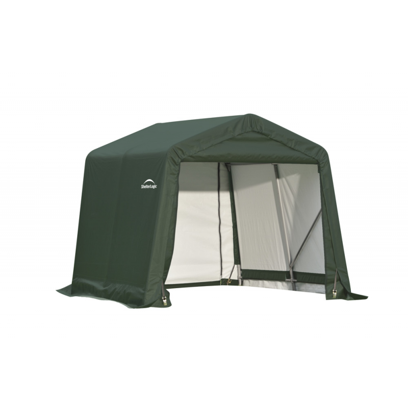 Shelter Logic 8x8x8 Peak Style Shelter, Green (71804)