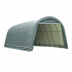 Shelter Logic 14x28x12 Round Style Shelter, Grey (95333)