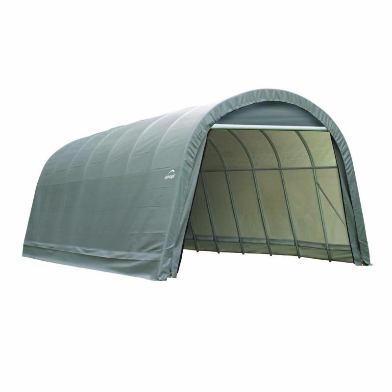 Shelter Logic 14x28x12 Round Style Shelter, Grey (95333)