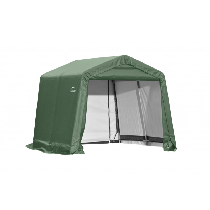 ShelterLogic 10x12x8 Peak Style Shelter, Green (72814)