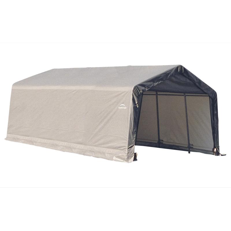 Shelter Logic 12x20x8 Peak Style Shelter, Grey (71434)