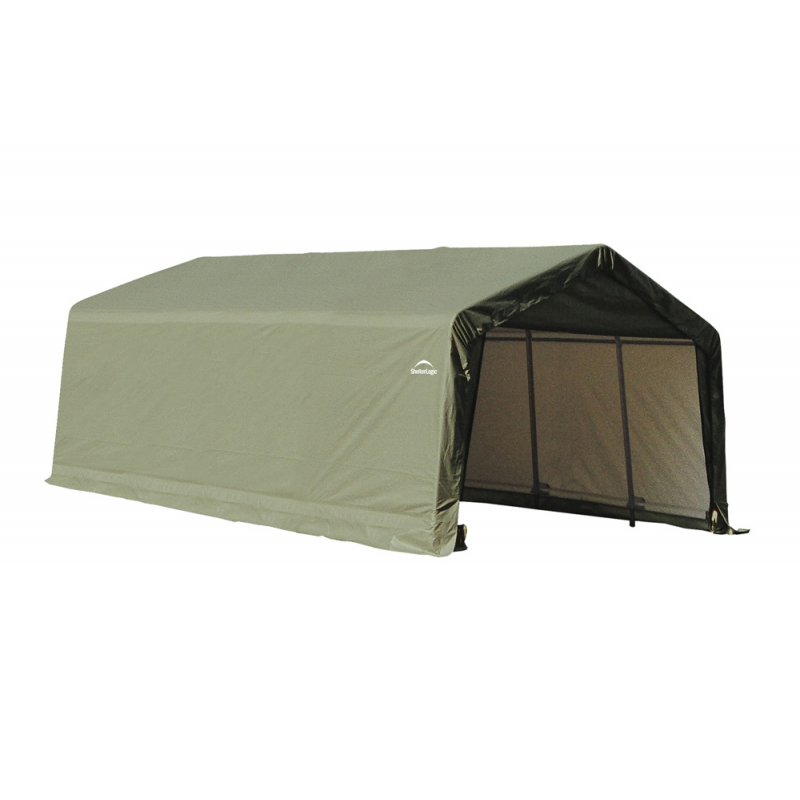 Shelter Logic 12x20x8 Peak Style Shelter, Green (71444)