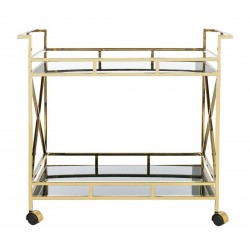 Safavieh Kehlani 2 Shelf Bar Cart - Jade/Gold - Owners Favorite!
