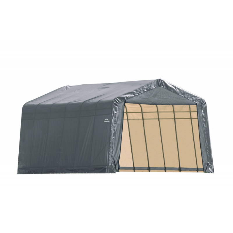 Shelter Logic 12x24x8 Peak Style Shelter, Grey (72434)