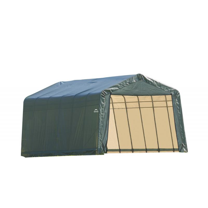 ShelterLogic 12x24x8 Peak Style Shelter, Green (72444)