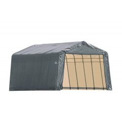 Shelter Logic 12x28x8 Peak Style Shelter, Grey (76432)