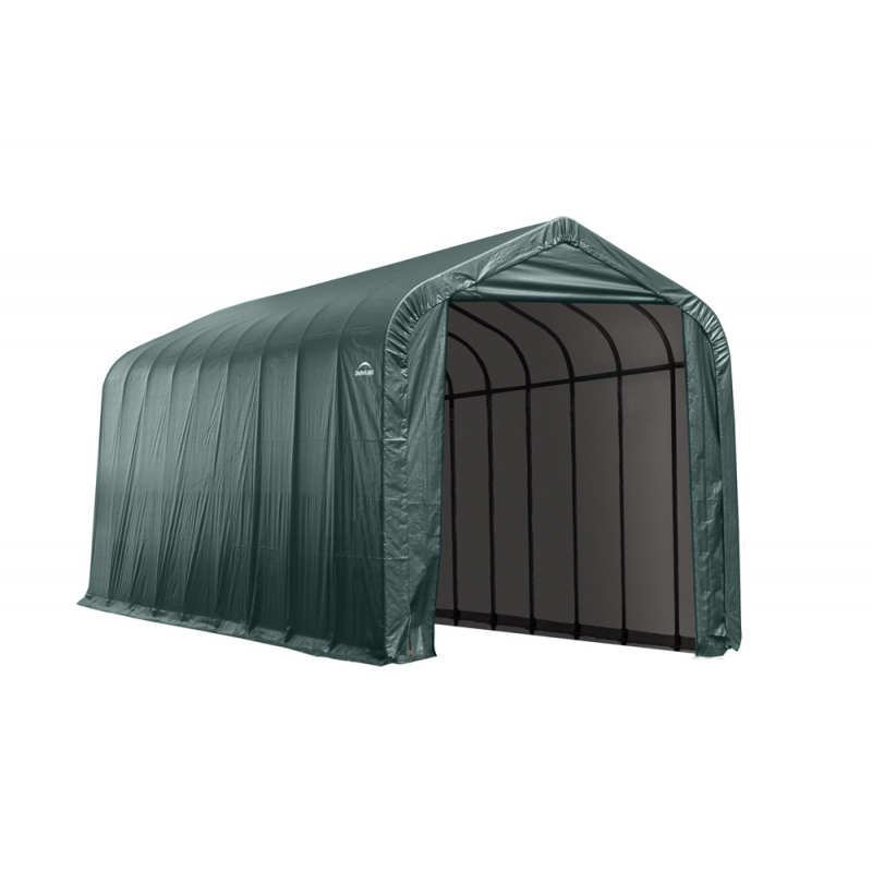 Shelter Logic 14x20x12 Peak Style Shelter, Green (95351)