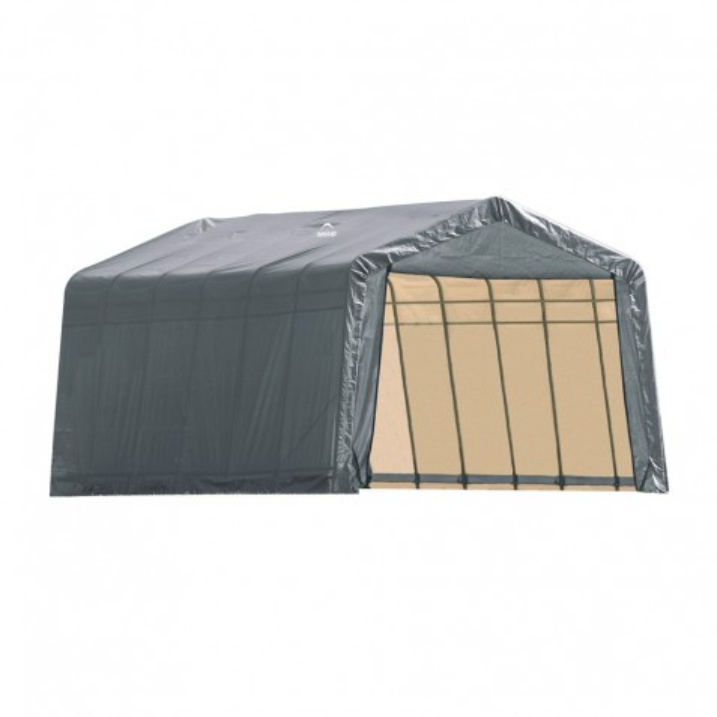 Shelter Logic 13x24x10 Peak Style Shelter, Grey (74432)