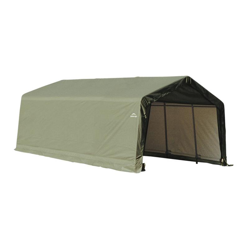 ShelterLogic 13x20x10 Peak Style Shelter, Green (73442)