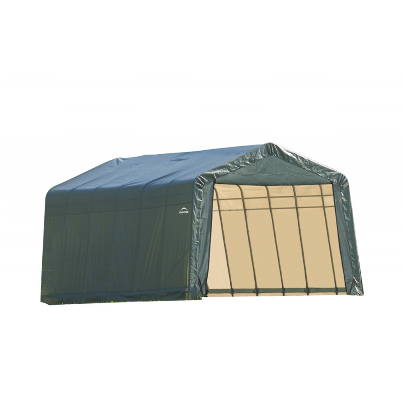 Shelter Logic 12x28x8 Peak Style Shelter, Green (76442)