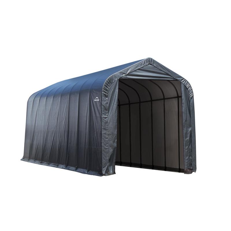ShelterLogic 16x36x16 Peak Style Instant Garage Kit - Gray (79431)
