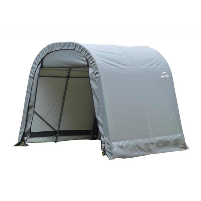 Shelter Logic 8x8x8 Round Style Shelter, Grey (76803)