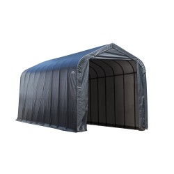 Shelter Logic 14x28x12 Peak Style Shelter, Grey (75232)