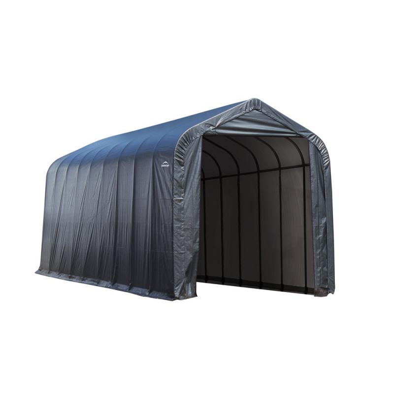 Shelter Logic 14x28x12 Peak Style Shelter, Grey (75232)