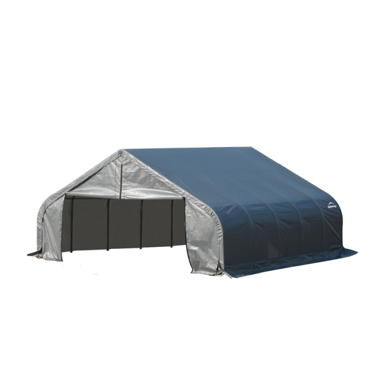 Shelter Logic 18x24x11 Peak Style Shelter, Grey (80020)