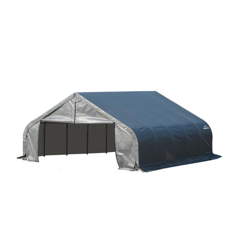 Shelter Logic 18x28x11 Peak Style Shelter, Grey (80024)
