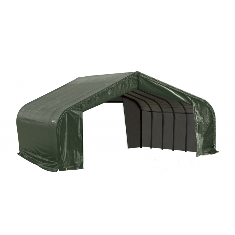 ShelterLogic 22x24x13 Peak Style Shelter, Green (82144)
