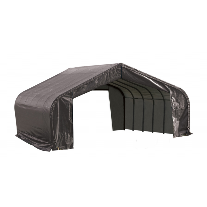ShelterLogic 22x20x13 Peak Style Shelter, Grey (82043)