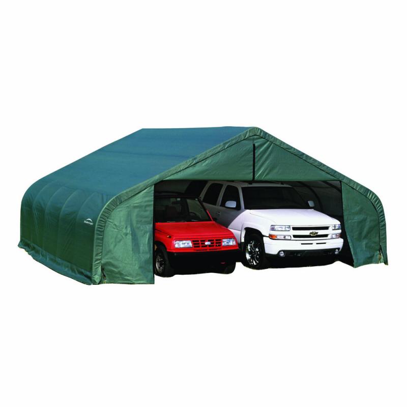 ShelterLogic 22x28x11 Peak Style Shelter, Green (78741)