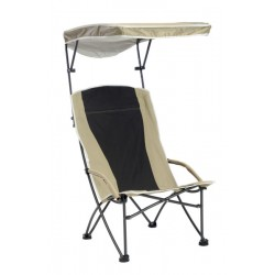 Quik Shade Pro Comfort High Back Shade Folding Chair - Tan (160087DS)
