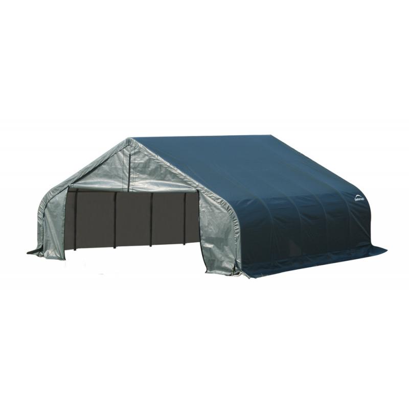 Shelter Logic 18x24x11 Peak Style Shelter, Green (80021)