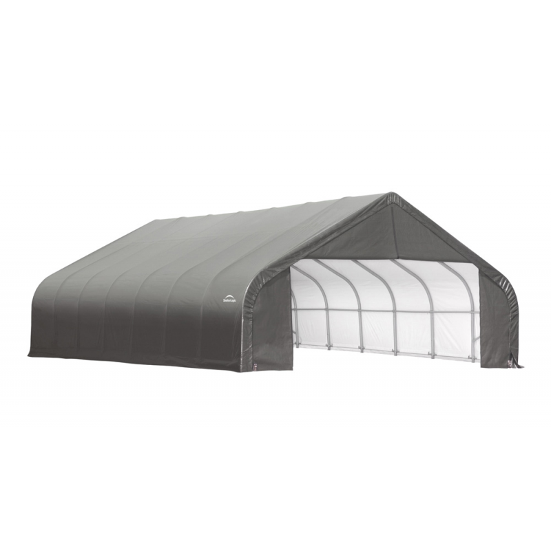 Shelter Logic 28x28x20 Peak Style Shelter, Grey (86070)