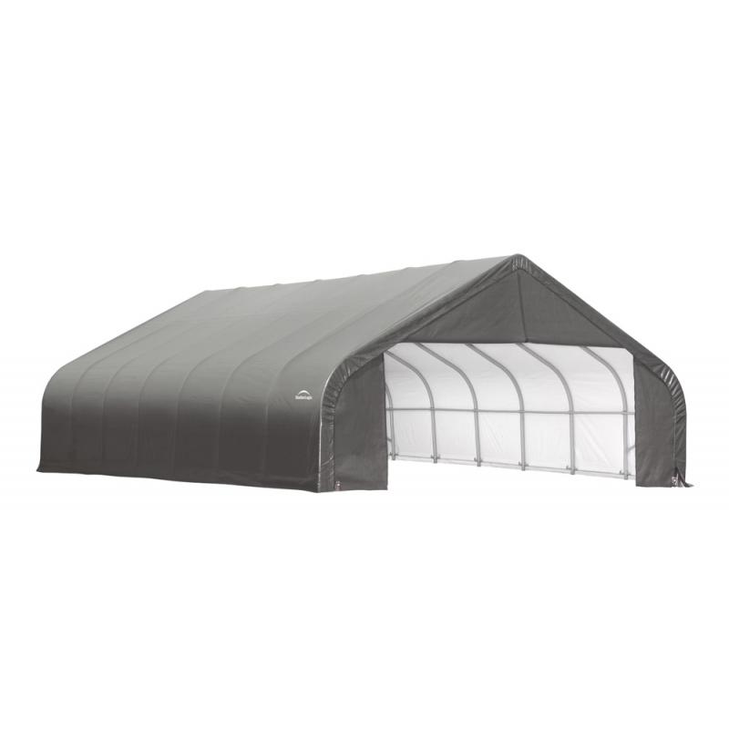 ShelterLogic 28x28x20 Peak Style Shelter, Grey (86070)