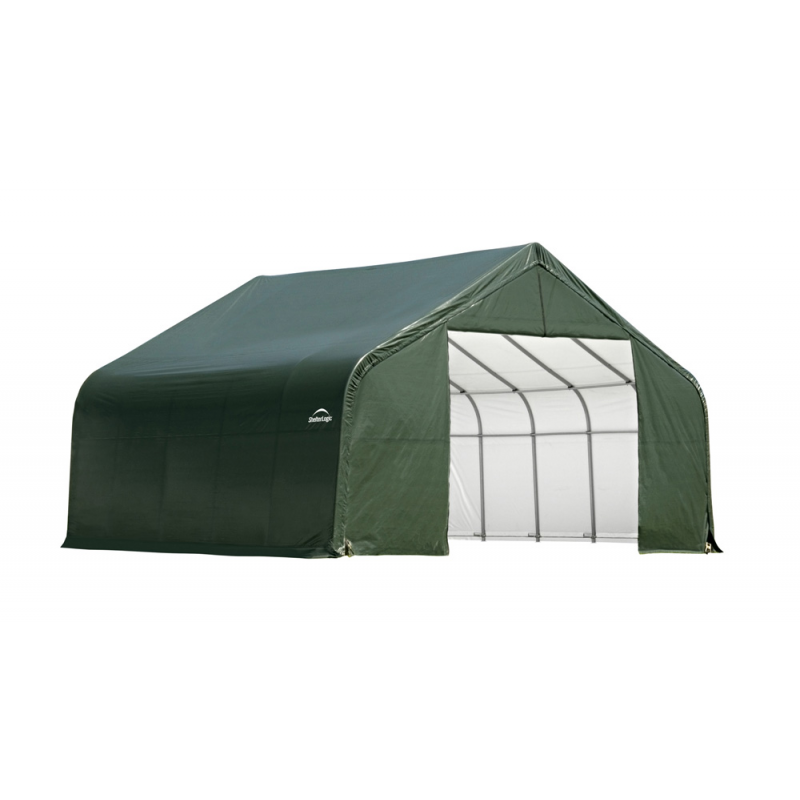 ShelterLogic 28x24x16 Peak Style Instant Garage Kit - Green (86048)