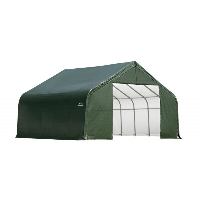Shelter Logic 30x24x16 Peak Style Shelter, Green (86048)