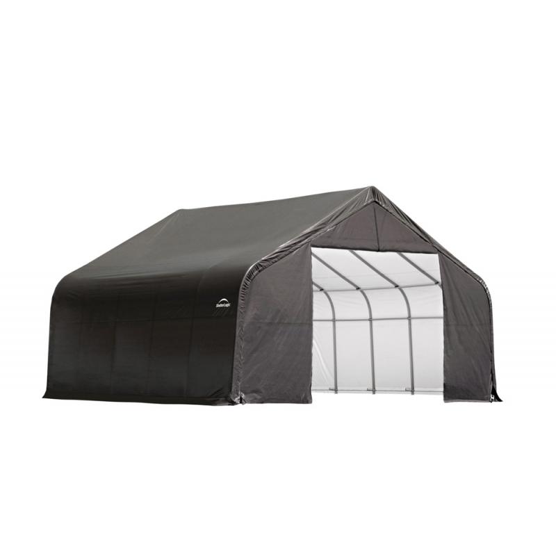 ShelterLogic 28x20x20 Peak Style Instant Garage Kit - Grey (86062)