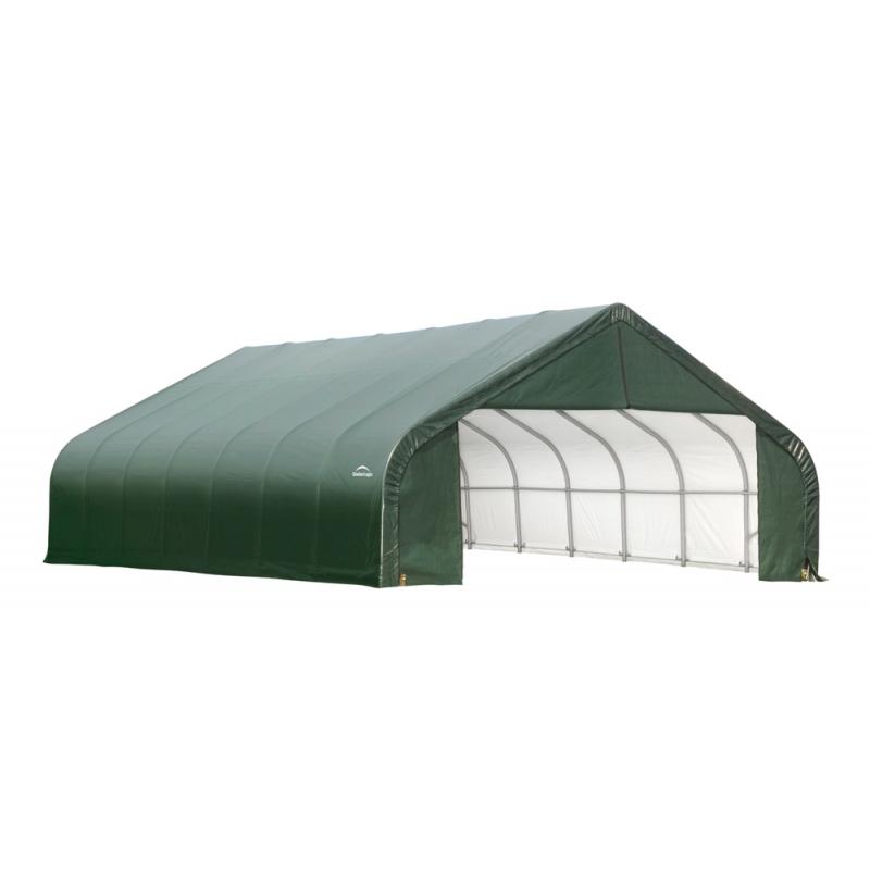 ShelterLogic 28x24x20 Peak Style Shelter Kit - Green (86067)