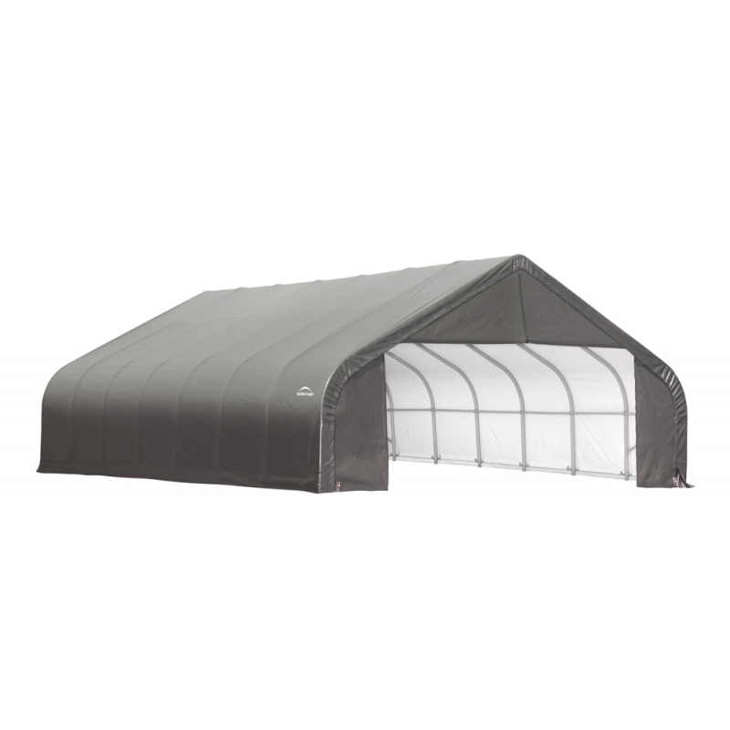 Shelter Logic 28x24x20 Peak Style Shelter Kit - Grey (86066)