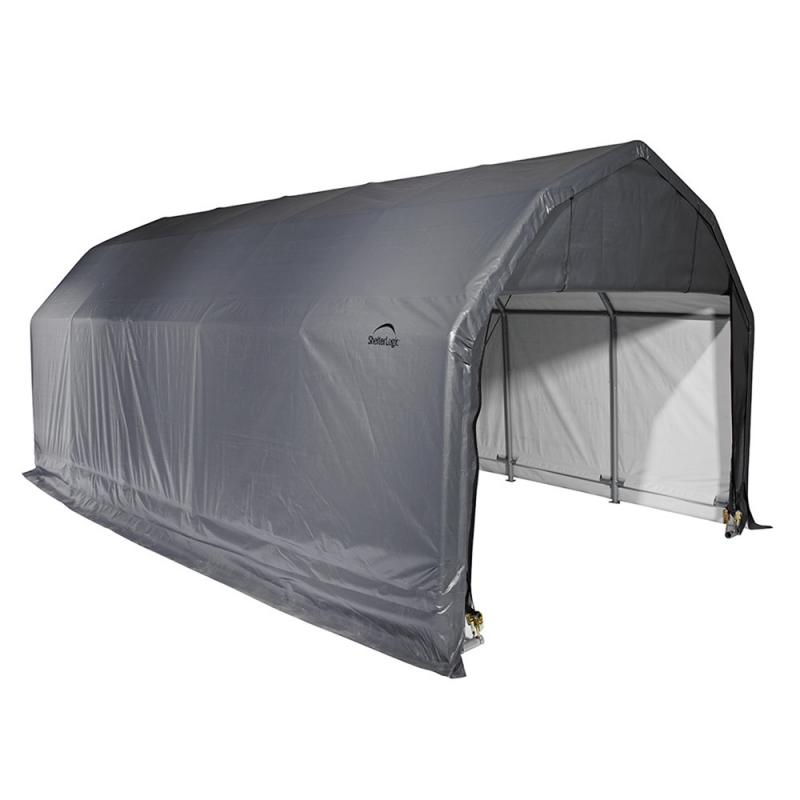 ShelterLogic 12x20x9 Barn Shelter, Grey (97053)
