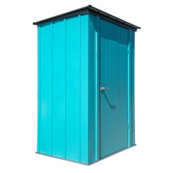 ShelterLogic 4x3 Spacemaker Patio Steel Shed Kit - Teal and Anthracite (CY43T21)