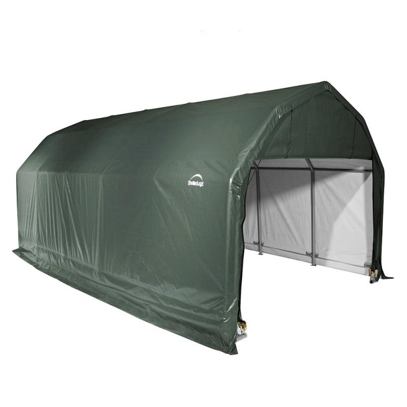 Shelter Logic 12x24x9 Barn Shelter, Green (97154)