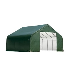 ShelterLogic 28x20x20 Peak Style Shelter, Green (86063)