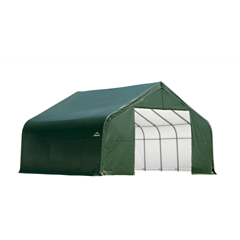 Shelter Logic 28x20x20 Peak Style Shelter, Green (86063)