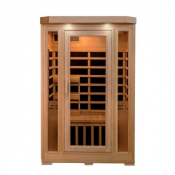 HeatWave 2-Person Sonoma Hemlock Infrared Sauna with 6 Carbon Heaters (SA7018)