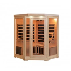 HeatWave 3-Person Sonoma Hemlock Infrared Sauna with 7 Carbon Heaters (SA7019)