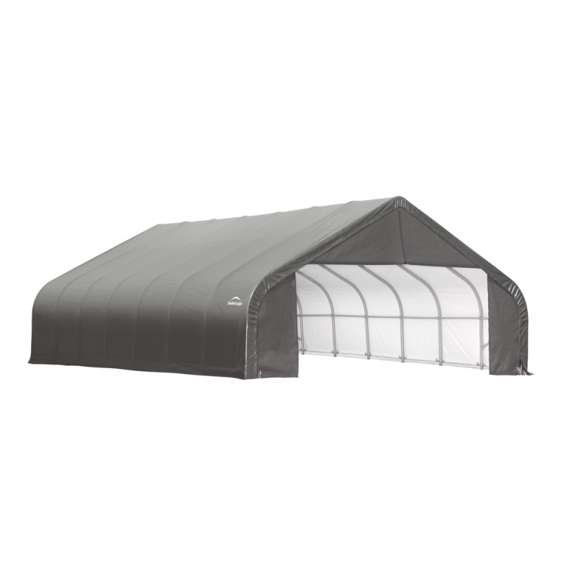Shelter Logic 28x28x16 Peak Style Shelter Kit - Grey (86051)