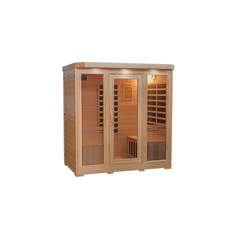 HeatWave 4-Person Sonoma Hemlock Infrared Sauna with 9 Carbon Heaters (SA7020)