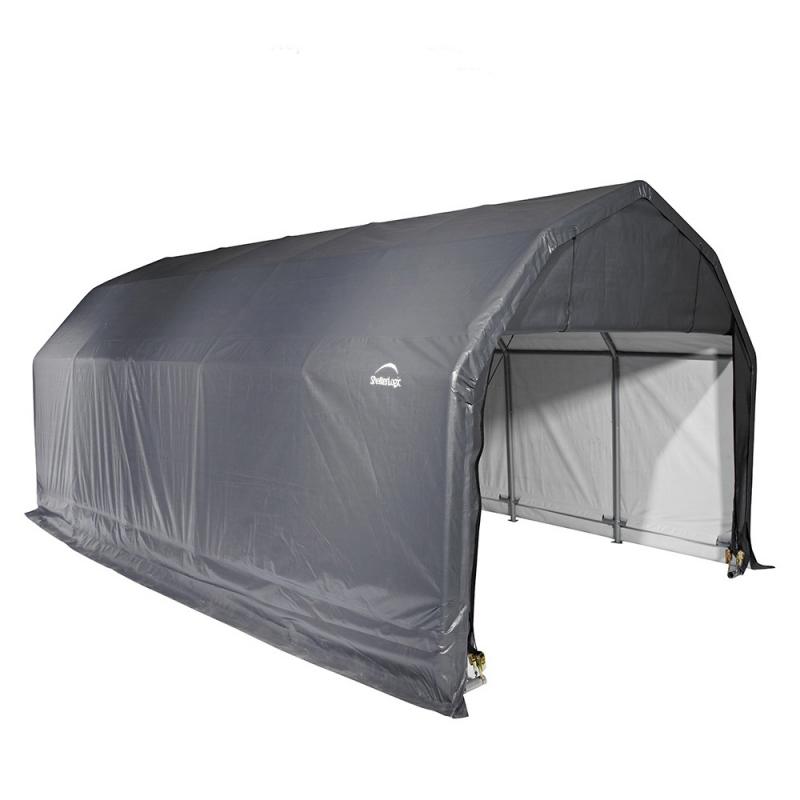 Shelter Logic 12x28x9 Barn Shelter, Grey (97253)