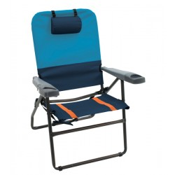 RIO Gear 4-Position Aluminum 17 inches Folding Chair - Navy (GR617-432-1)