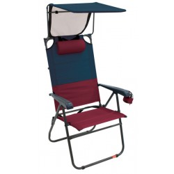 RIO Gear Hi-Boy Aluminum Canopy Folding Chair - Charcoal/Oxblood (GR643GHCP-430-1)