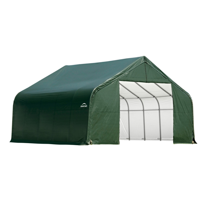 Shelter Logic 30x20x16 Peak Style Shelter, Green (86044)