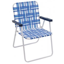 Rio Folding Web Chair - Blue and White (BY055-0128-1)