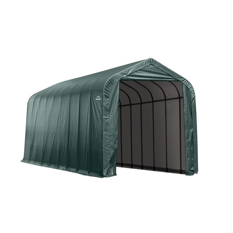 Shelter Logic 14x44x16 Peak Style Shelter, Green (95944)