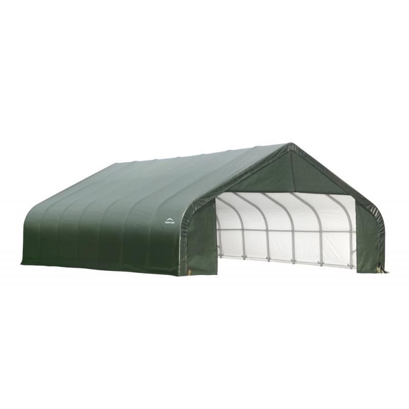 ShelterLogic 28x28x20 Peak Style Shelter Kit - Green (86071)