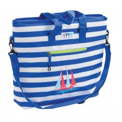 Rio Gear Deluxe Insulated Cooler Beach Bag - Blue Stripe (CT777-1915-1)
